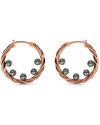 MARCELLO RICCIO - Rose Gold Twisted Pearl Earrings - Lyst