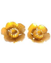 Andrew O Dell Jewellery - Gold Buttercup Studs - Lyst