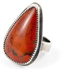 Gemspell Jewellery - Desert Heart Jasper Ring - Lyst
