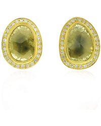 Socheec - Exotic Diamond Stud Earrings - Lyst