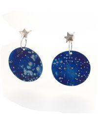 Sian Bostwick Jewellery Stella Nova Galaxy Drop Earrings - Blue