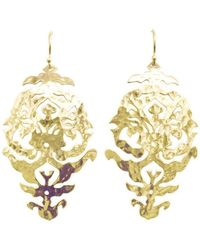 Murkani Jewellery Gold Empire Drop Earrings - Metallic