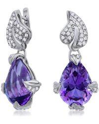 Drukker Designs - Sterling Silver Amethyst Earrings - Lyst