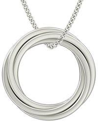 StyleRocks Catherine Russian Rings Necklace In Sterling Silver - Metallic