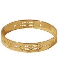 Murkani Jewellery - Jaipur Bangle In 18kt Yellow Gold Plate - Lyst