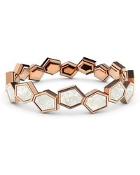 MARCELLO RICCIO Rose Gold Plated Sterling Silver & Mother Of Pearl Eternity Ring - Metallic