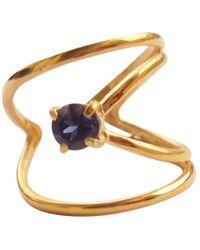 Elena Jewelry Concepts Yellow Plated Rhombus R - Metallic
