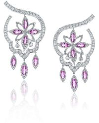 Niquesa Fine Jewellery - Amore Margarita Pink Sapphire Earrings - Lyst
