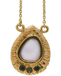Susan Wheeler Design - Cocholong Necklace With Black Diamonds - Lyst