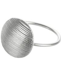 AWU Fine Jewelry - Sterling Silver Round Fall Ring   - Lyst