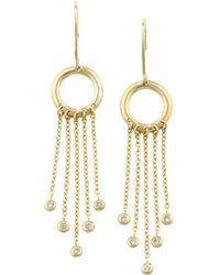 London Road Jewellery Portobello Yellow Gold Diamond Fringe Drop Earrings Hz5Ld