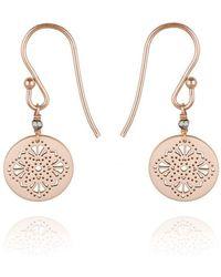 Perle de Lune - Art Deco Earrings 9kt Rose Gold - Lyst