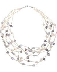 Lily Blanche Statement Pearls - Metallic