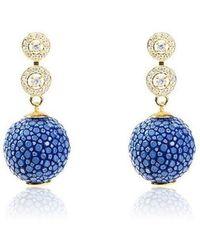 LÁTELITA London - Stingray Ball Earring Royal Blue - Lyst