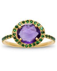 Liz Phillips Delilah Amethyst And Tsavorite Garnet Ring - Multicolor