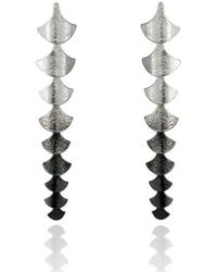 Cara Tonkin - Siren Vertebrae Earrings Silver - Lyst