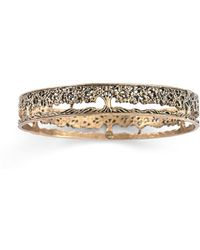 House of Alaia - Tree Of Life Filigree Bangle Bracelet In Bronze - Lyst