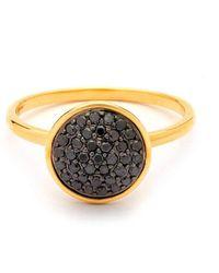 Syna - 18kt Black Diamond Chakra Ring - Lyst