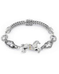 Deni Jewelry - Horse Bracelet With Megamendung Cloud Motif - Lyst