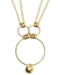 Alison Fern Jewellery - Yellow Gold Filled Bonnie Necklace - Lyst