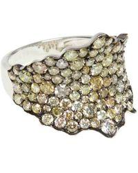 Ri Noor - Fancy Yellow Diamond Wave Ring - Lyst