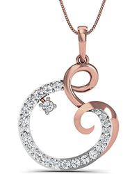 Diamoire Jewels Hand-carved Pendant in 10kt Rose Gold and 33 Premium Diamonds ZAy1kQTkQ