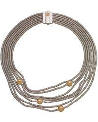 Franco Piane Designed By Franco Pianegonda Waves Necklace - Metallic