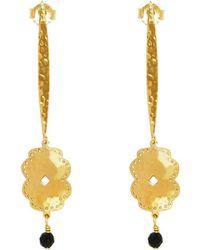Murkani Jewellery - Yellow Gold Plated Beleza Long Earrings - Lyst