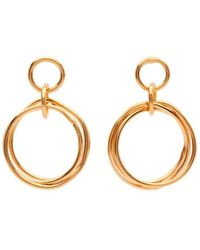 Susan Driver - Yellow Gold Plated Petite Knot Earrings - Lyst