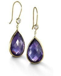 BCOUTURE - Purple Amethyst With White Topaz Accent Drop Earrings - Lyst