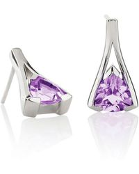MANJA Jewellery Valentine Amethyst Earrings - Multicolor