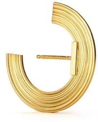 aka jewellery Gold Plated Silver Orbit Small Radius Lobe Earrings - Metallic