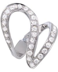 Dada Arrigoni Jewelry - Small Ivy Pave White Gold Ring - Lyst