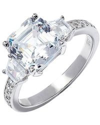 Lustre of London - Asscher Cut Engagement Ring - Lyst