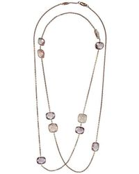 BCOUTURE - Rose Quartz And Pink Amethyst Long Necklace - Lyst