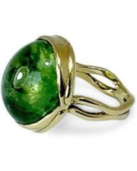 Serena Fox - Acrosi Yellow Gold & Green Tourmaline Ring - Lyst