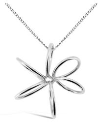 Maree London - Silver Orchid Pendant - Lyst