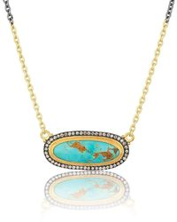 """Lika Behar Collection - Gold And Oxidised Silver """"my World"""" Necklace - Lyst"""
