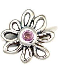 Donna Pizarro Designs - Sterling Silver Pink Sapphire Daisy Ring - Lyst
