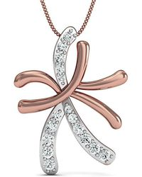 Diamoire Jewels - Hand-carved 14kt Rose Gold And Diamond Pendant - Lyst