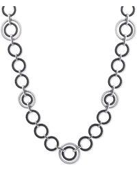 Alor - 18kt Gold & Stainless Steel Diamond Noir Necklace - Lyst