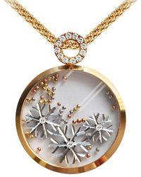 Chekotin Jewellery White Gold & Yellow Gold Snowflake Pendant | - Metallic