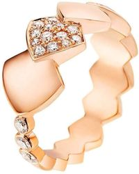 Akillis - Python Rose Gold Diamond Tatou Ring - Lyst