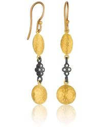 "Lika Behar Collection - Gold And Oxidised Silver ""kadiz"" Drop Earrings - Lyst"