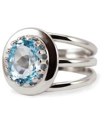 Vintouch Italy - Luccichio Blue Topaz Spiral Ring - Lyst