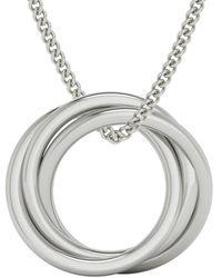 StyleRocks Alexandra Russian Rings Necklace In Sterling Silver - Metallic