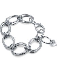 Designs by JAK Integrity Oval Link Statement Bracelet - Metallic