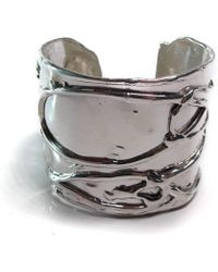Private Opening - Large Byzantine Shiny Silver Cuff - Lyst