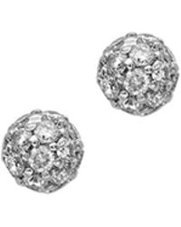 London Road Jewellery - Bloomsbury White Gold Diamond Ball Stud Earrings - Lyst