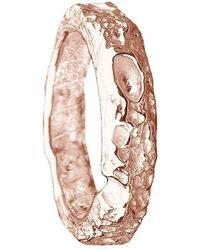 Joseph Lamsin Jewellery Bespoke Cornish Beach Sand Textured Handmade 18kt Rose Gold Wedding Ring - Uk I - Us 4.5 - Eu 48 - Multicolour